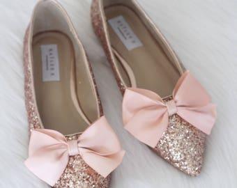 Rose Gold Flat Shoes Etsy