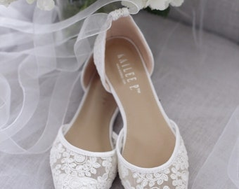 Flat Wedding Shoes Etsy