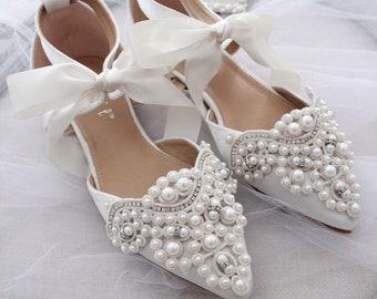 Flat Wedding Shoes Etsy