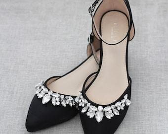 Black Wedding Shoes Etsy