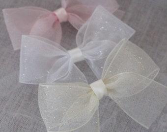 Organza hair bows | Etsy