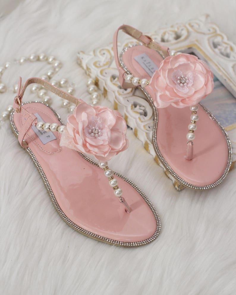 7141b192901fa2 Women   Girls Wedding Pearl Sandal CORAL Patent