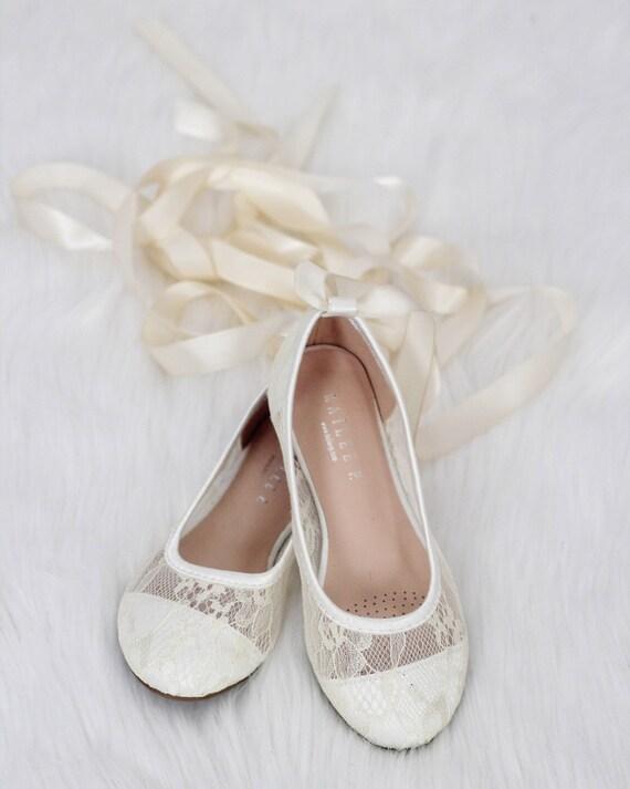 37beb0f35fed Girls IVORY lace ballerina Shoes Flower Girl Shoes Baptism