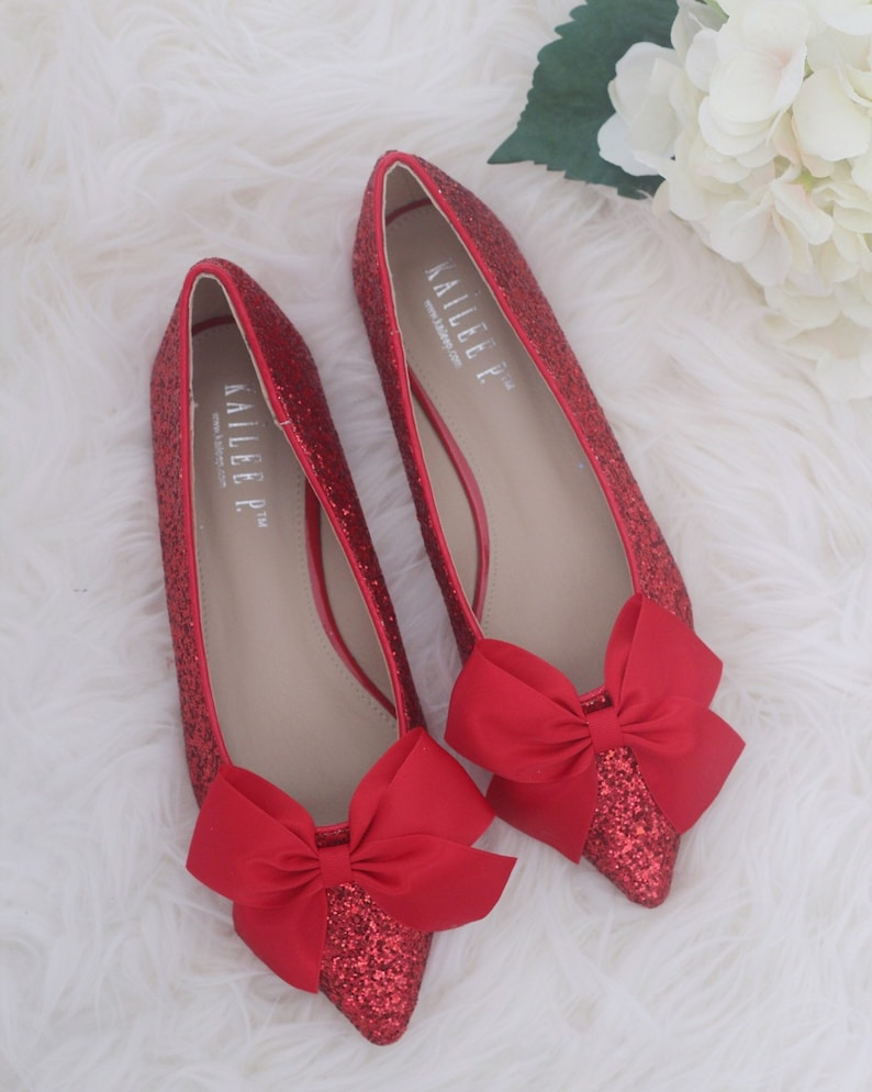 f1eed0d253c2 Women Wedding Shoes Bridesmaid Shoes RED ROCK Glitter