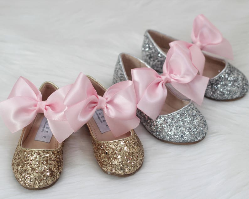 cae46a8ef217 FIRST BIRTHDAY SHOES Silver   Gold Rock Glitter Maryjane
