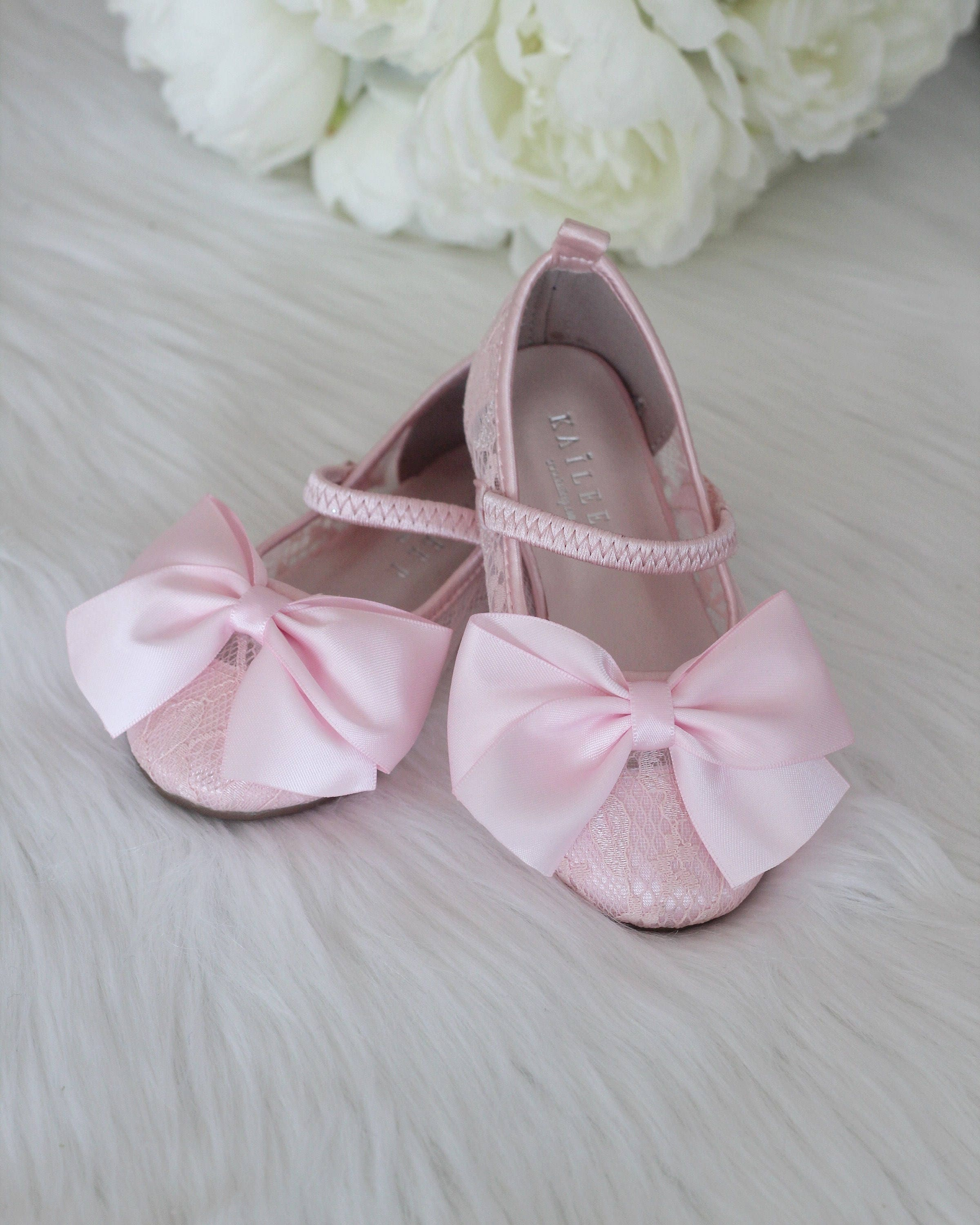 Girls Shoes Flower Girl Shoes Pink Lace Up Maryjane With Etsy