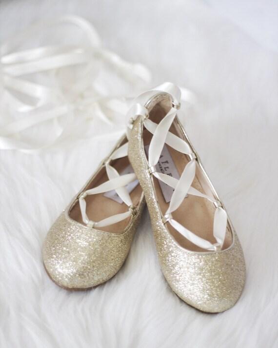 GOLD GLITTER Infant girl Shoe and Girls