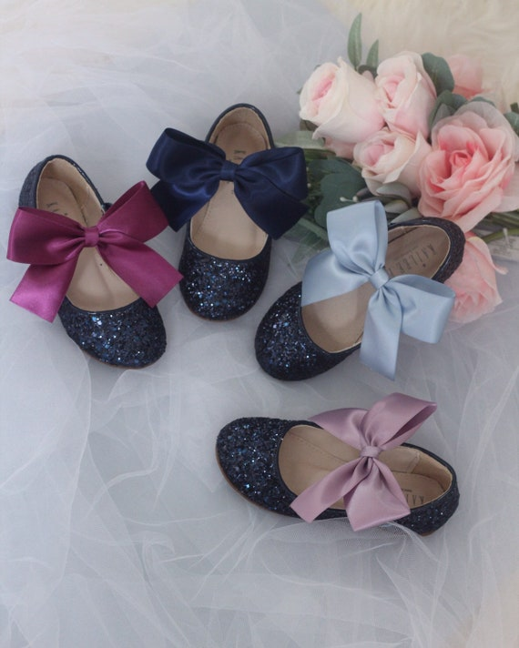 8219cf421afc NAVY BLUE rock glitter mary-jane with Dusty Plum-Blue wedding