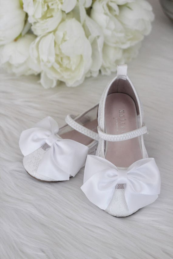 Girls Shoes Flower Girl Shoes White Lace Maryjane With Etsy