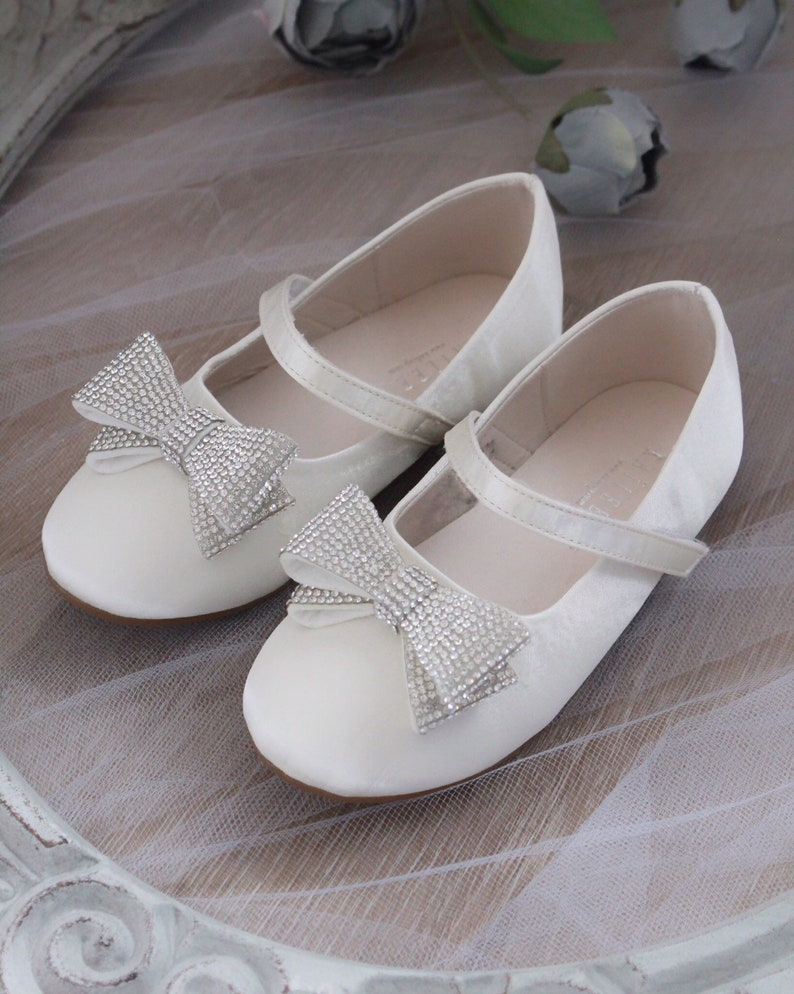 Flower Girls Bridesmaid Wedding  First Communion Mary Jane Shoes