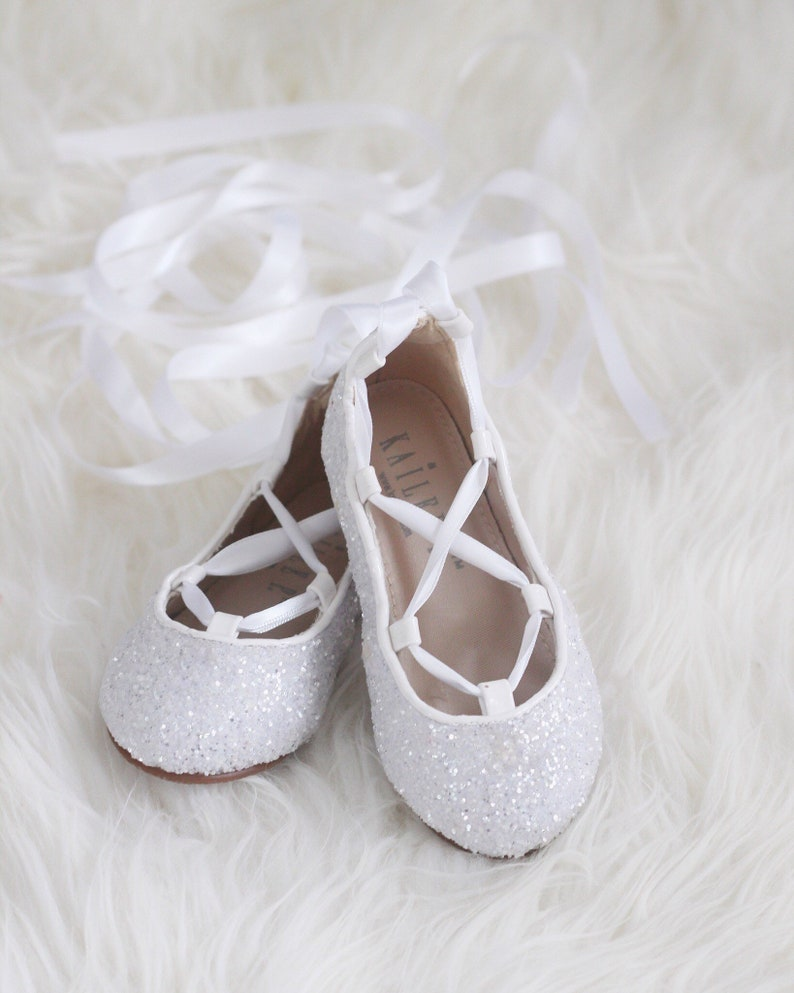 042dad38a23 WHITE ROCK GLITTER Infant girl Shoe and Girls ballerina Shoes