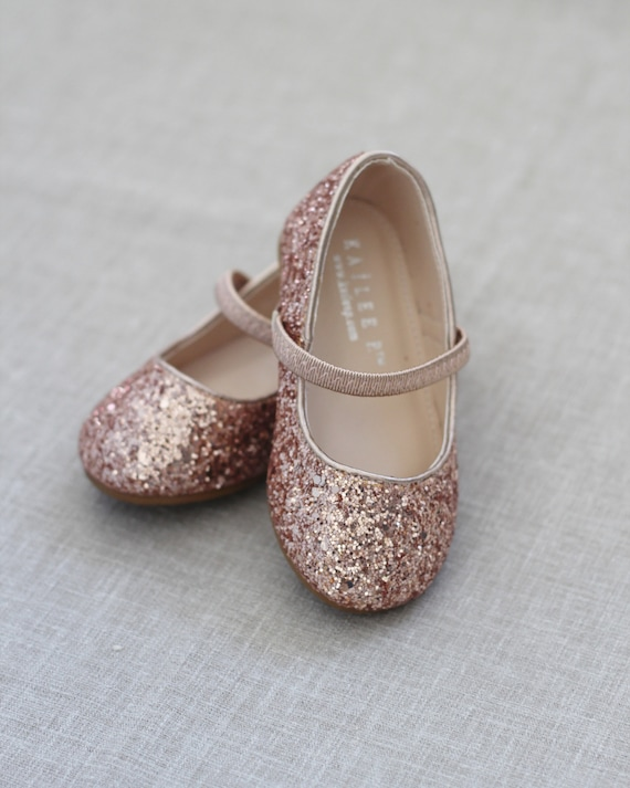 Rose town Little Girls Dress Ballet Mary Jane Leather Flat Shoes