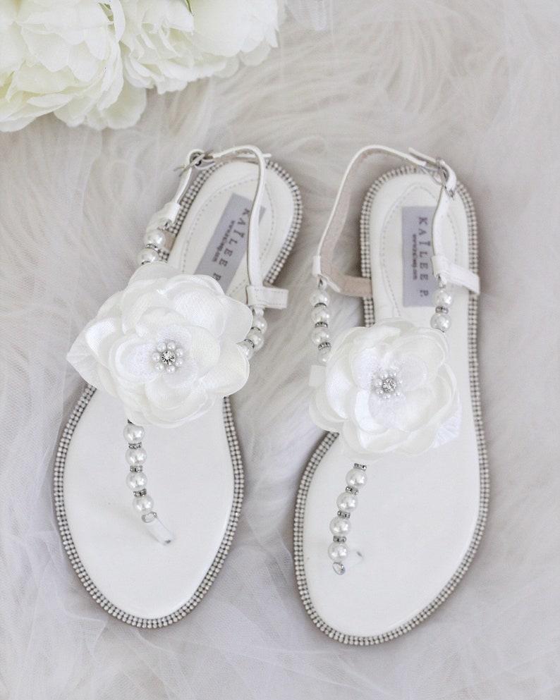 f6465b274 Women and Kids Wedding Pearl Sandal OFF WHITE Patent