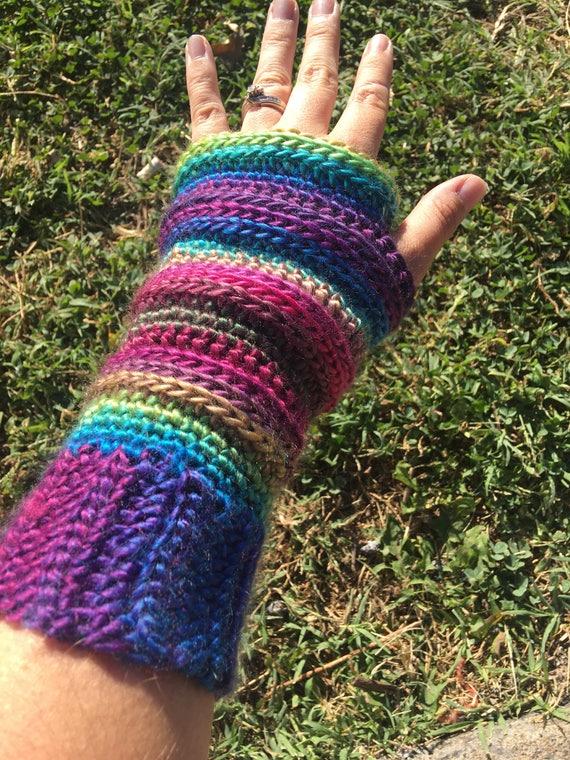 Haak Vingerloze Handschoenen Etsy