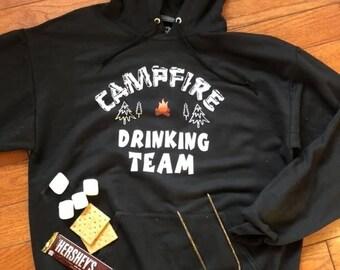 Campfire Drinking Team Hoodie, Sweatshirt