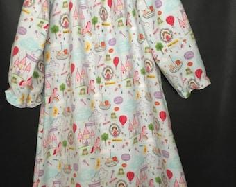 NEW!! Girls Sz 5/6 Fairytale Nightgown, Cozy Child's Loungewear