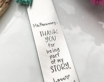 Thank you for being part of my story--Teacher appreciation gift--Teacher gift--Gift for teacher--Library Gift--Custom Teacher Gift