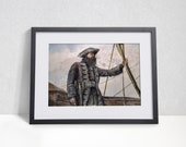Blackbeard Pirate Poster, Black Sails, Edward Teach