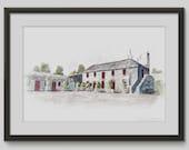 Larchfield Estate - Original art print by PaperBark Stationery