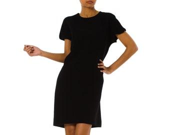 4261d313d1c5 1990s Versace Couture Minimal Black Dress Size  S M