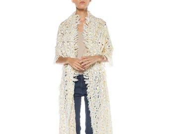 Crochet Daisy Shawl Size: free