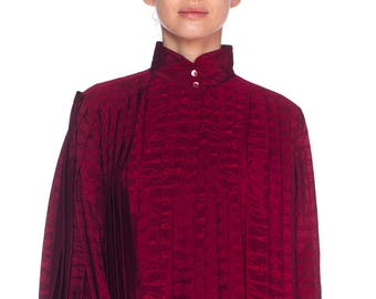 Gucci Pleated Silk Blouse Size: