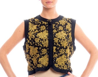 1960s Gold Beaded Vest Size: M