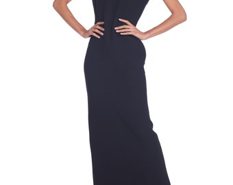 e013f4c3a98 Gianni-versace-black Gold Safey Pin Gown Size  XS