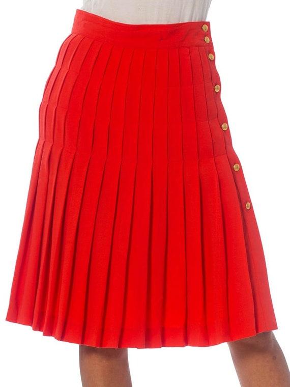 1990S ESCADA Salmon Pink Wool Crepe Skirt