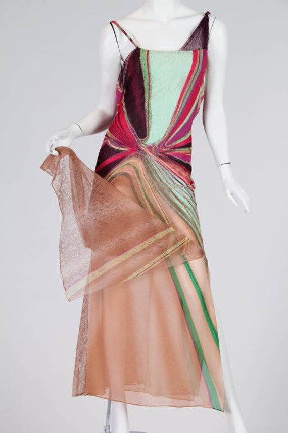 1990s Gianni Versace Couture Backless Sheer Chiff… - image 8