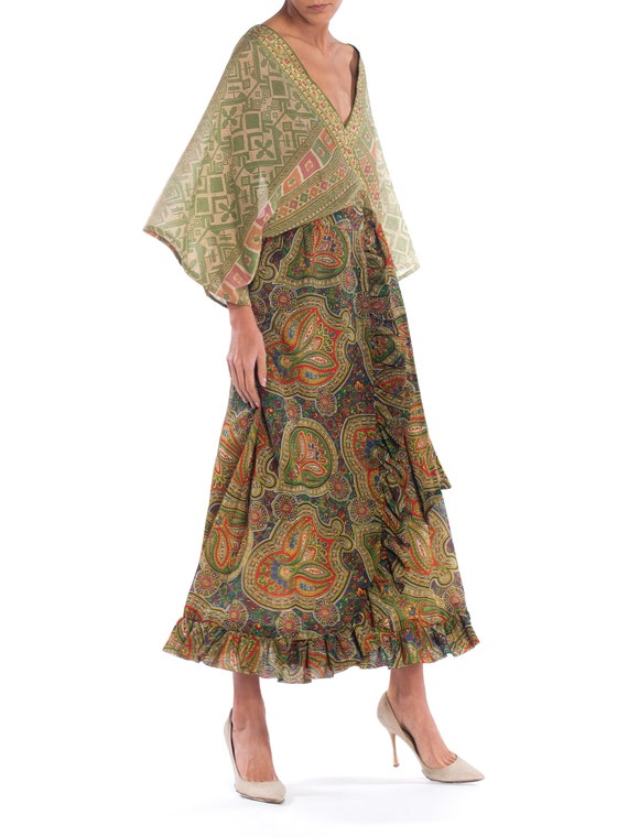 MORPHEW COLLECTION Silk & Cotton Indian Paisley W… - image 3