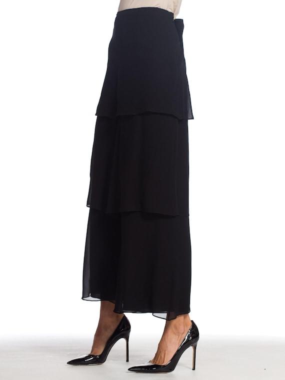 1990s-armani Silk Chiffon Pants Size: L - image 3