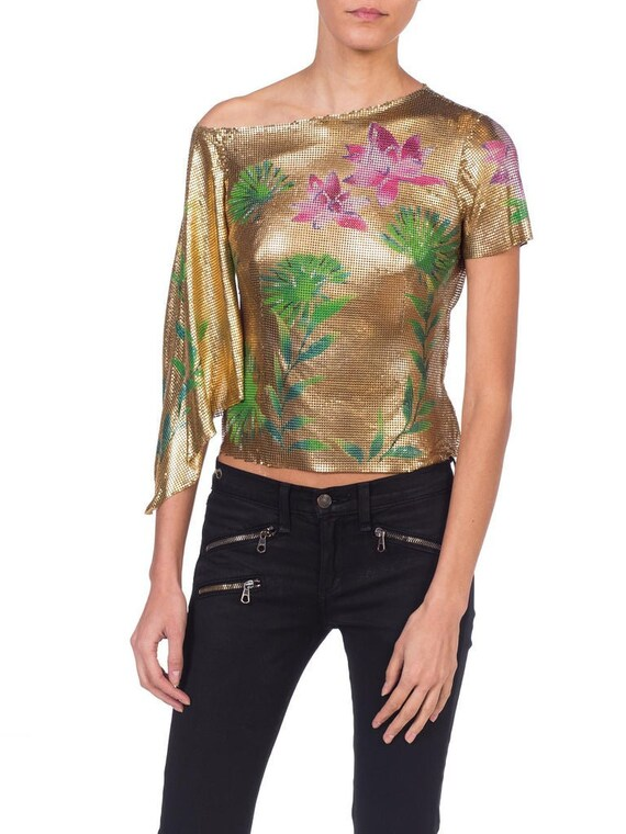 2000S GIANNI VERSACE Jlo Collection Tropical Gold