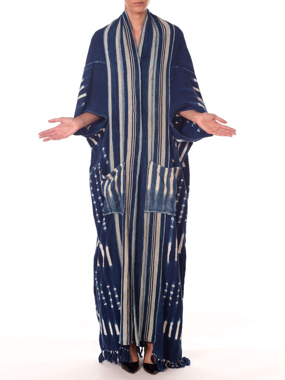 da6f142b4a8 Morphew-collection African Handwoven Tie-dye Indigo Robe With