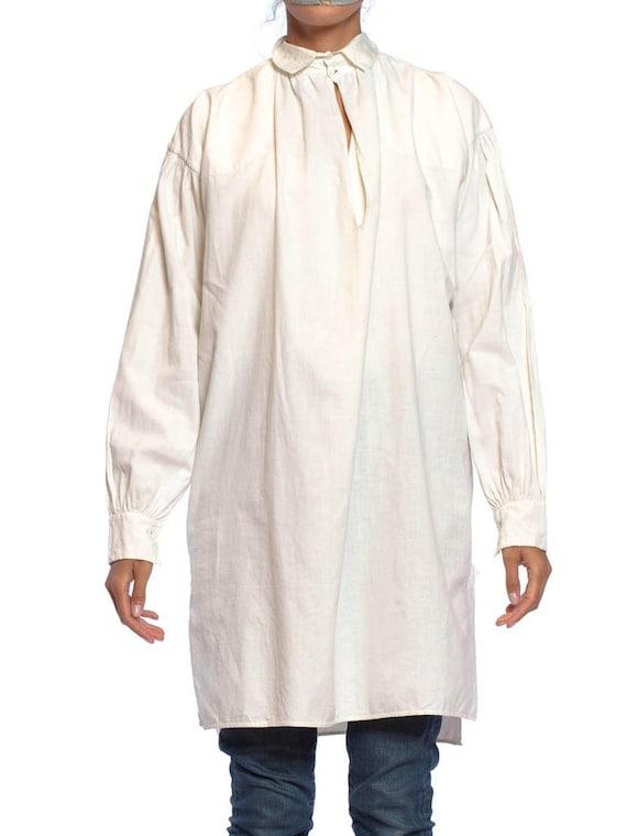 Victorian Ivory Linen  Cotton Men's Shirt From 181