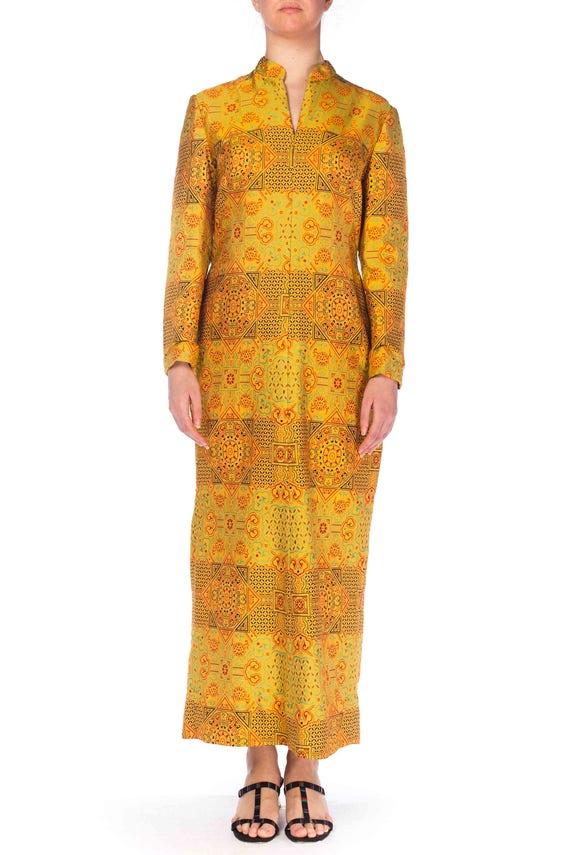 1960S Adele Simpson Silk Chinese Inspired Dress