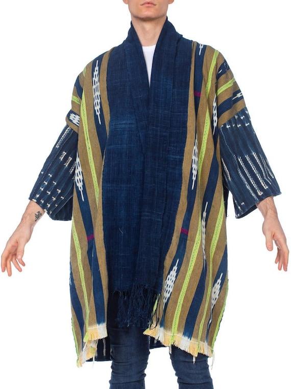 MORPHEW COLLECTION Indigo Kimono With Hawaiian 197