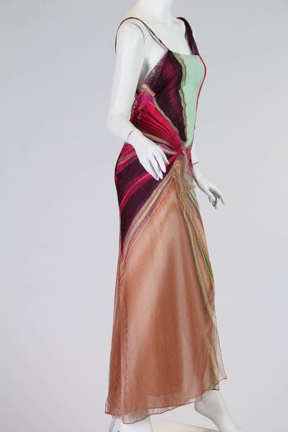 1990s Gianni Versace Couture Backless Sheer Chiff… - image 9