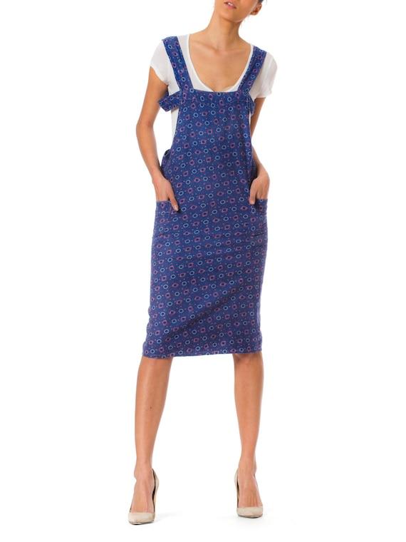 1920s Workwear Apron Dress