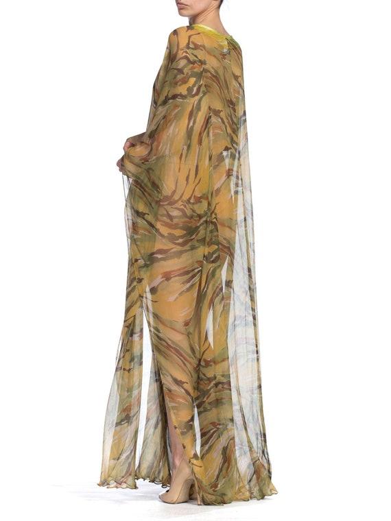 1990's  Romeo Gigli Sheer Silk Chiffon Kaftan Siz… - image 8