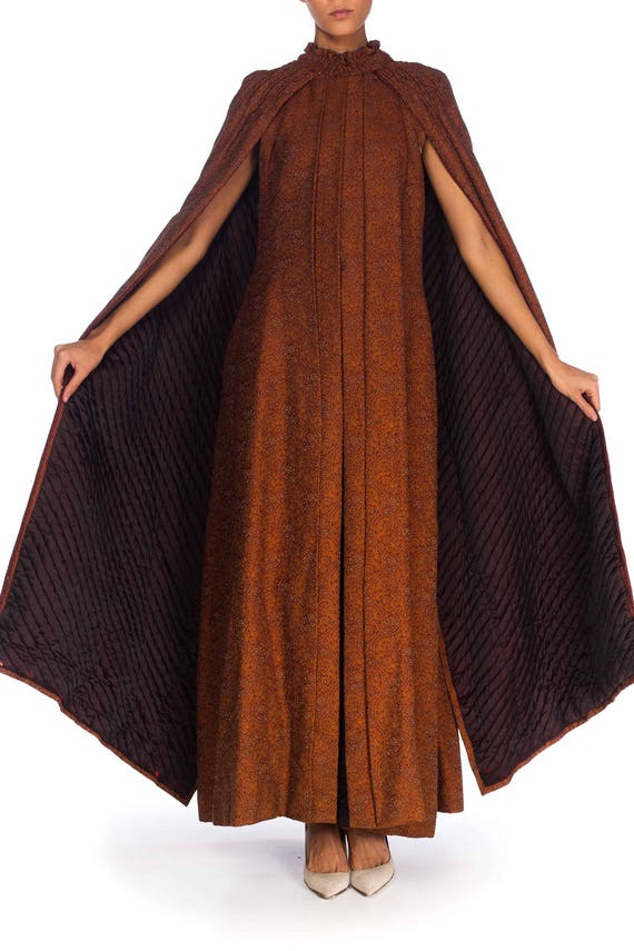 1890S Silk, Wool Victorian Paisley Cape