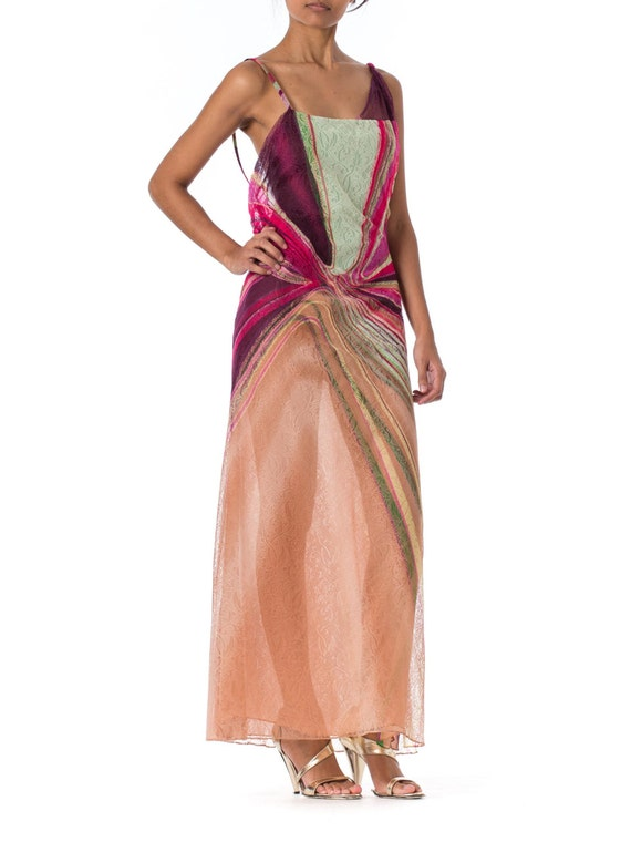 1990s Gianni Versace Couture Backless Sheer Chiff… - image 2