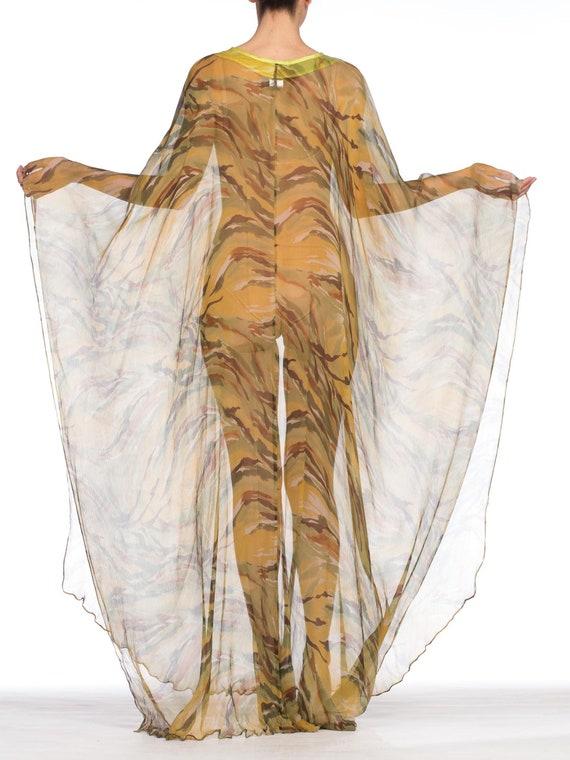 1990's  Romeo Gigli Sheer Silk Chiffon Kaftan Siz… - image 10