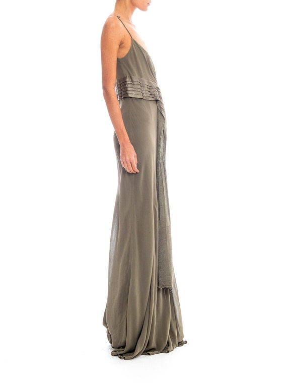 1990s Ghost Silk Chiffon Gown Size: XS-S - image 3