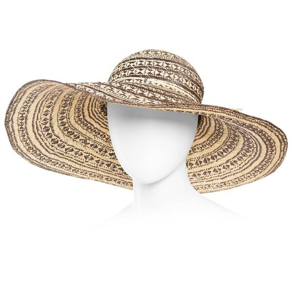 Handwoven Wide Brimmed Straw Picture Hat