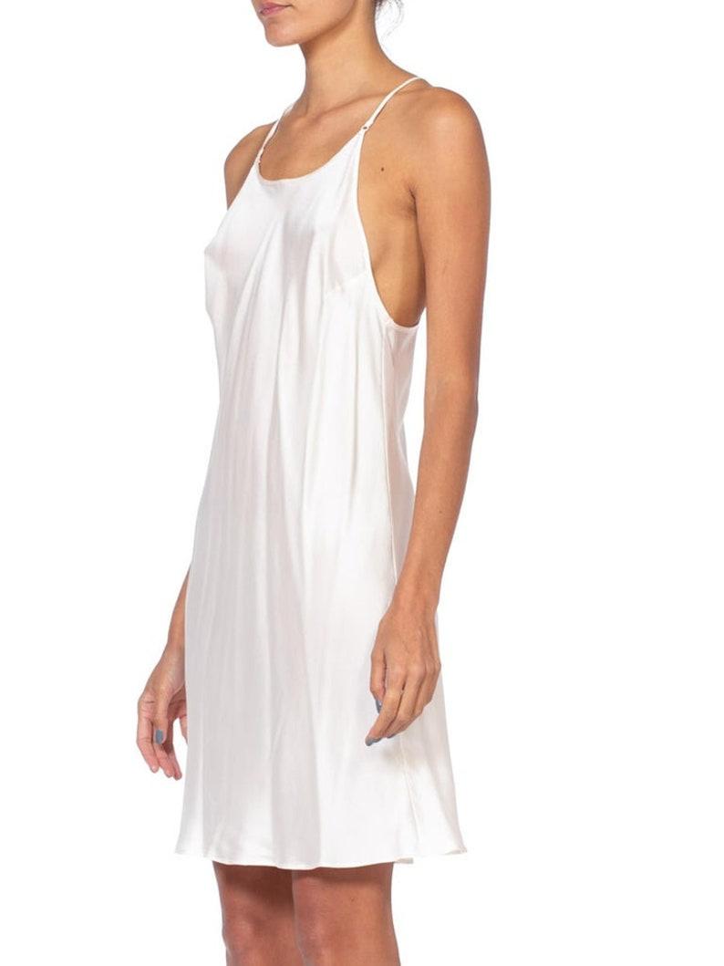 1990/'s Bias Cut Silk Satin Slip Dress