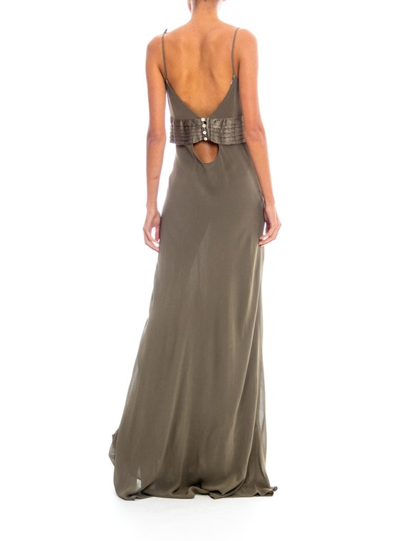 1990s Ghost Silk Chiffon Gown Size: XS-S - image 4