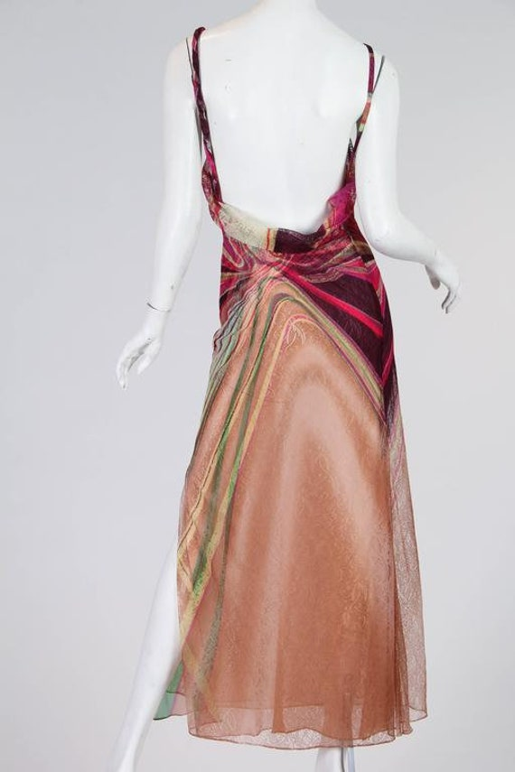 1990s Gianni Versace Couture Backless Sheer Chiff… - image 10