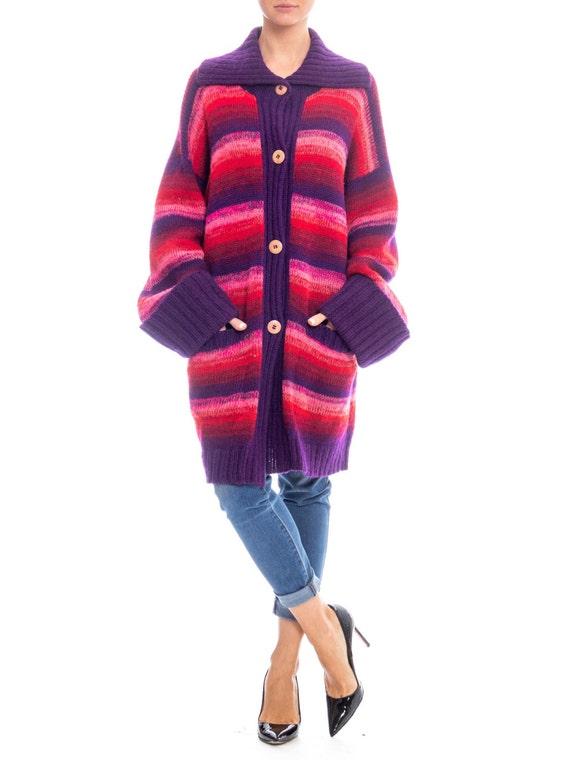 1980s Kansai Yamamoto Oversized Striped Wool Sweat