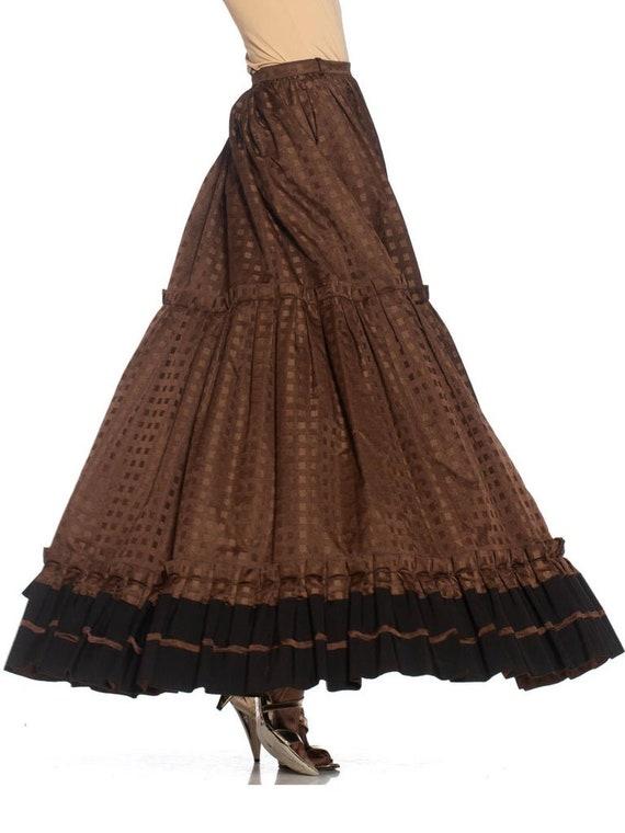 1970S Lanvin Brown Haute Couture Silk Full Pleate… - image 9